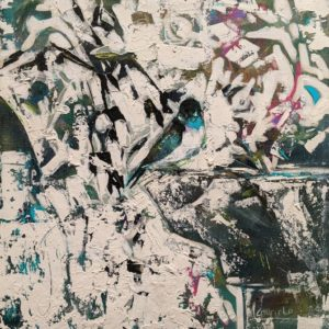 """SOLD """"Bamboo Garden,"""" by Lee Caufield 12 x 12 - acrylic $570 (thick canvas wrap)"""