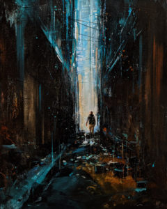 """SOLD """"Boundary,"""" by William Liao 16 x 20 - acrylic $1235 Unframed"""