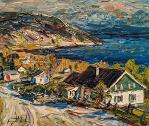 """SOLD """"Cap-aux-Oies, Charlevoix,"""" by Raynald Leclerc 20 x 24 - oil $2500 Unframed"""