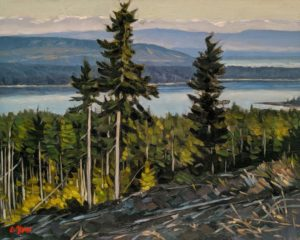 """SOLD """"Courtenay Spring,"""" by Graeme Shaw 8 x 10 - oil $535 Unframed"""