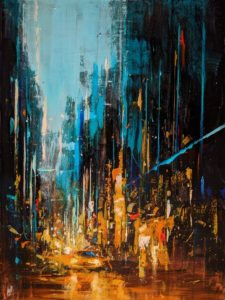 """SOLD """"Dreamscape 1,"""" by William Liao 18 x 24 - acrylic $1650 Unframed"""