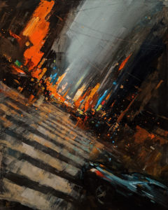 """SOLD """"Dreamscape 5,"""" by William Liao 16 x 20 - acrylic $1235 Unframed"""