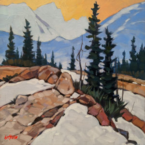 """SOLD """"In the Evening Silence,"""" by Graeme Shaw 10 x 10 - oil $570 Unframed"""