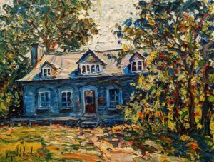 """La maison à René-Richard, Baie Saint Paul,"" by Raynald Leclerc 18 x 24 - oil $2300 Unframed"