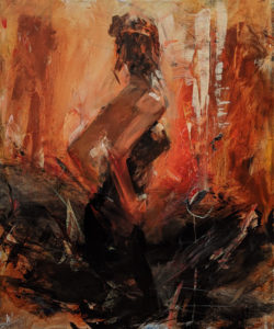 """SOLD """"Morning Breeze,"""" by William Liao 20 x 24 - acrylic $2570 Unframed"""