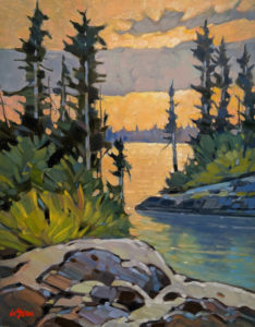"""SOLD """"North Arm Evening,"""" by Graeme Shaw 11 x 14 - oil $735 Unframed"""