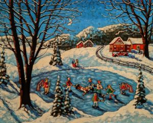 """SOLD """"Of Decembers Past,"""" by Rod Charlesworth 24 x 30 - oil $2890 (thick canvas wrap)"""