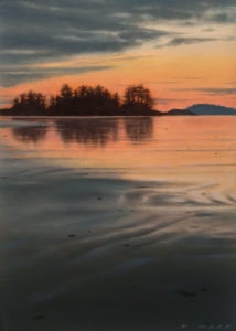 """SOLD """"Quiet Dusk,"""" by Ray Ward 5 x 7 (on 6 x 8 panel) - oil $640 Unframed"""