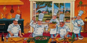 """Ratatouille!"" by Michael Stockdale 12 x 24 - acrylic $865 Unframed"