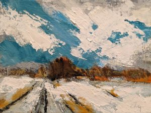 """SOLD """"Route Perdue"""" (Study), by Robert P. Roy 9 x 12 - acrylic $560 Unframed"""