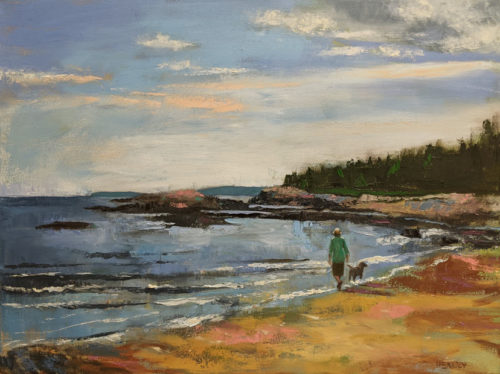 """SOLD """"Tranquility,"""" by Paul Healey 18 x 24 - oil $1550 Unframed"""