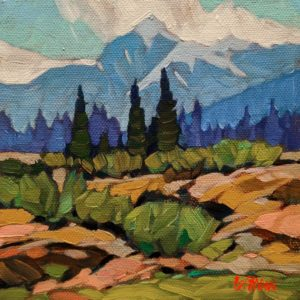 """""""Valley View,"""" by Graeme Shaw 6 x 6 - oil $440 Unframed"""