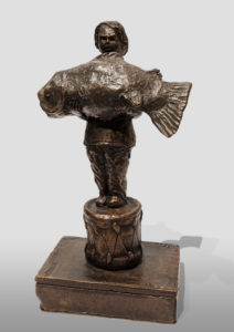"""""""The Weight of Light"""" by Michael Hermesh 8"""" (H) - bronze No. 1 of edition of 15 $1250"""