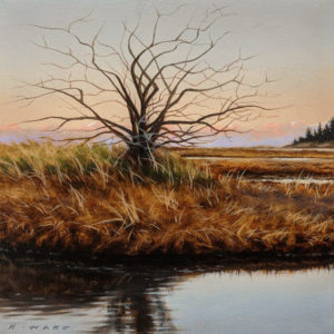 "SOLD ""Autumn Branches,"" by Ray Ward 5 x 5 (on 6 x 6 panel) - oil $625 Unframed"