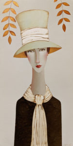 """SOLD """"Flora in Pastel,"""" by Danny McBride 12 x 24 - acrylic $1800 (thick canvas wrap)"""