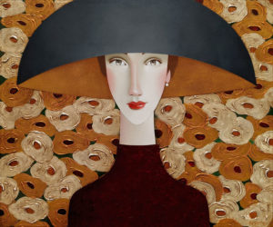 """SOLD """"Leona in Bloom,"""" by Danny McBride 20 x 24 - acrylic $2560 (thick canvas wrap)"""