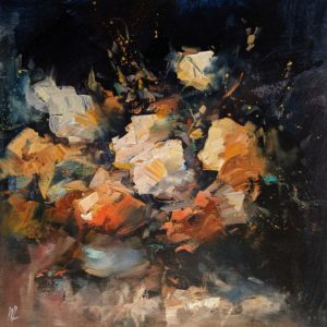 """SOLD """"Light of Fate,"""" by William Liao 12 x 12 - oil $635 (thick canvas wrap)"""