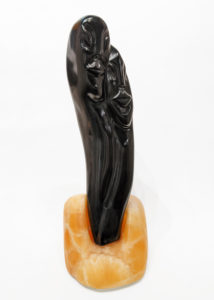 """""""Lovers,"""" by Herb Latreille 16"""" (H) - Chlorite on calcite base $2300"""