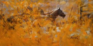 """""""Ranch in October,"""" by Clement Kwan 6 x 12 - oil $1100 Unframed"""