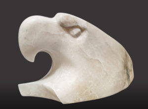 """""""Ruler in the Clouds,"""" by Marilyn Armitage 6"""" (H) x 10 (L) - opaque alabaster $725"""