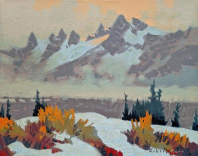 """Above and Beyond, Yoho Park,"" (2012) by Robert Genn 11 x 14 - acrylic $4000 Unframed"