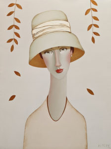 "SOLD ""Ashley,"" by Danny McBride 18 x 24 - acrylic $2350 (thick canvas wrap)"