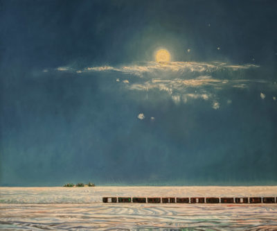 """December Moon,"" by Steve Coffey 36 x 48 - oil $3950 Unframed"