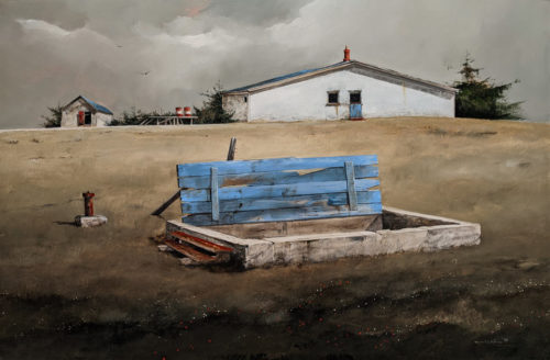 """Diefenbunker"" by Mark Fletcher 24 x 36 - acrylic $2530 Unframed"