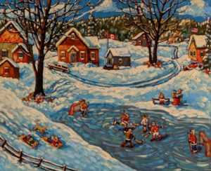 """SOLD """"Good Times,"""" (commission) by Rod Charlesworth 24 x 30 - oil $2890 Unframed"""