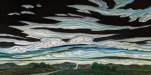 """""""Sky Tides,"""" by Steve Coffey 20 x 40 - oil $2820 (thick canvas wrap)"""