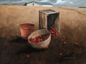 """Study of Apples"" (2002) by Mark Fletcher 12 x 16 - acrylic $1100 Unframed"