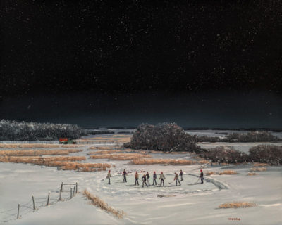 """We know where all the boys are,"" by Peter Shostak 24 x 30 - oil $5320 Unframed"