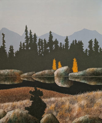 """Fall Colours,"" by Ken Kirkby 30 x 36 - oil $3240 Unframed"