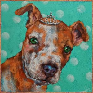 """""""Pearl,"""" by Angie Rees 8 x 8 - acrylic $425 (unframed panel with 1 1/2"""" edges)"""