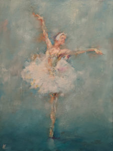 """""""Dancing with Life 9,"""" by William Liao 18 x 24 - oil $2330 Unframed"""