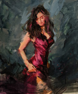"""""""Waltz of the Youth,"""" by William Liao 20 x 24 - acrylic $2570 Unframed"""