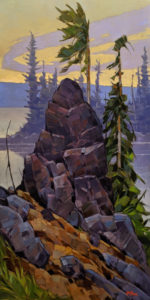 """""""At the Rising,"""" by Graeme Shaw 20 x 40 - oil $2795 Unframed"""