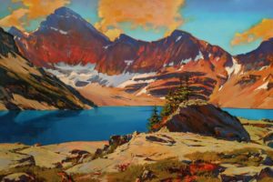 """The Colours of Lake McArthur (Lake O'Hara, B.C.)"" by Mike Svob 40 x 60 - acrylic $12,040 (thick canvas wrap)"