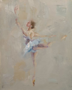 """""""Dancing with Life 10,"""" by William Liao 16 x 20 - oil $1730 Unframed"""