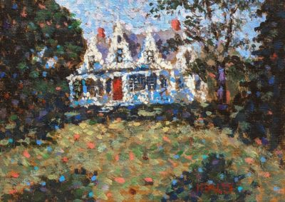 """Summer House,"" by Paul Healey 5 x 7 - acrylic $275 Unframed"