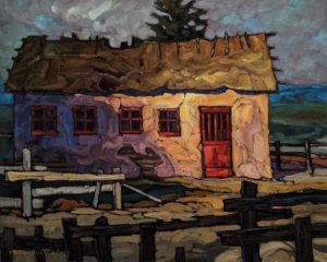 """""""Thatch and Plaster,"""" by Phil Buytendorp 16 x 20 - oil $1625 Unframed"""