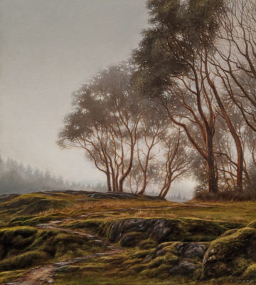 """Arbutus Ridge,"" by Ray Ward 18 x 20 - oil $2360 Unframed"