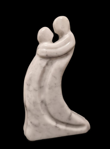 """""""The Embrace,"""" by Herb Latreille 17"""" (H) - Carrera marble $2950"""