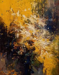 """""""Gentle Whisper,"""" by William Liao 11 x 14 - oil $680 (Unframed panel with 1 1/2"""" edges)"""