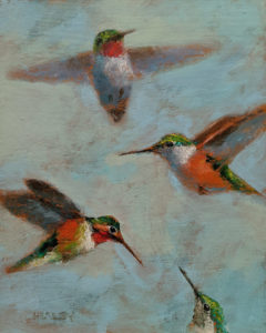 """""""Hovering,"""" by Paul Healey 8 x 10 - acrylic $450 Unframed"""